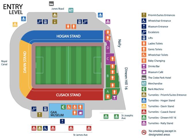 Croke Park map