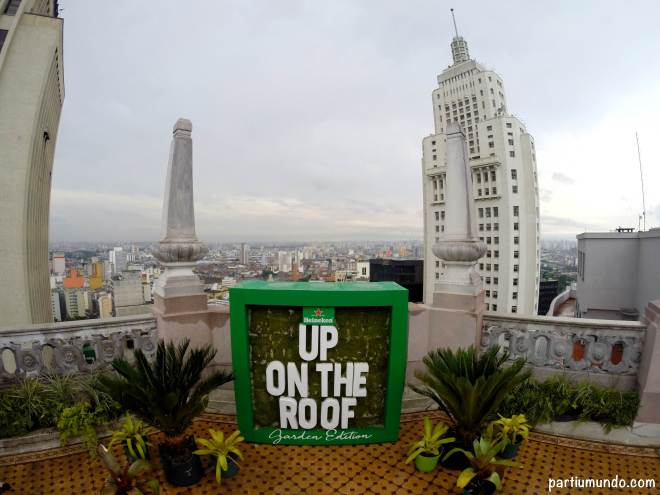 heineken up on the roof