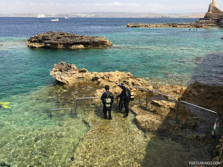 diving in malta