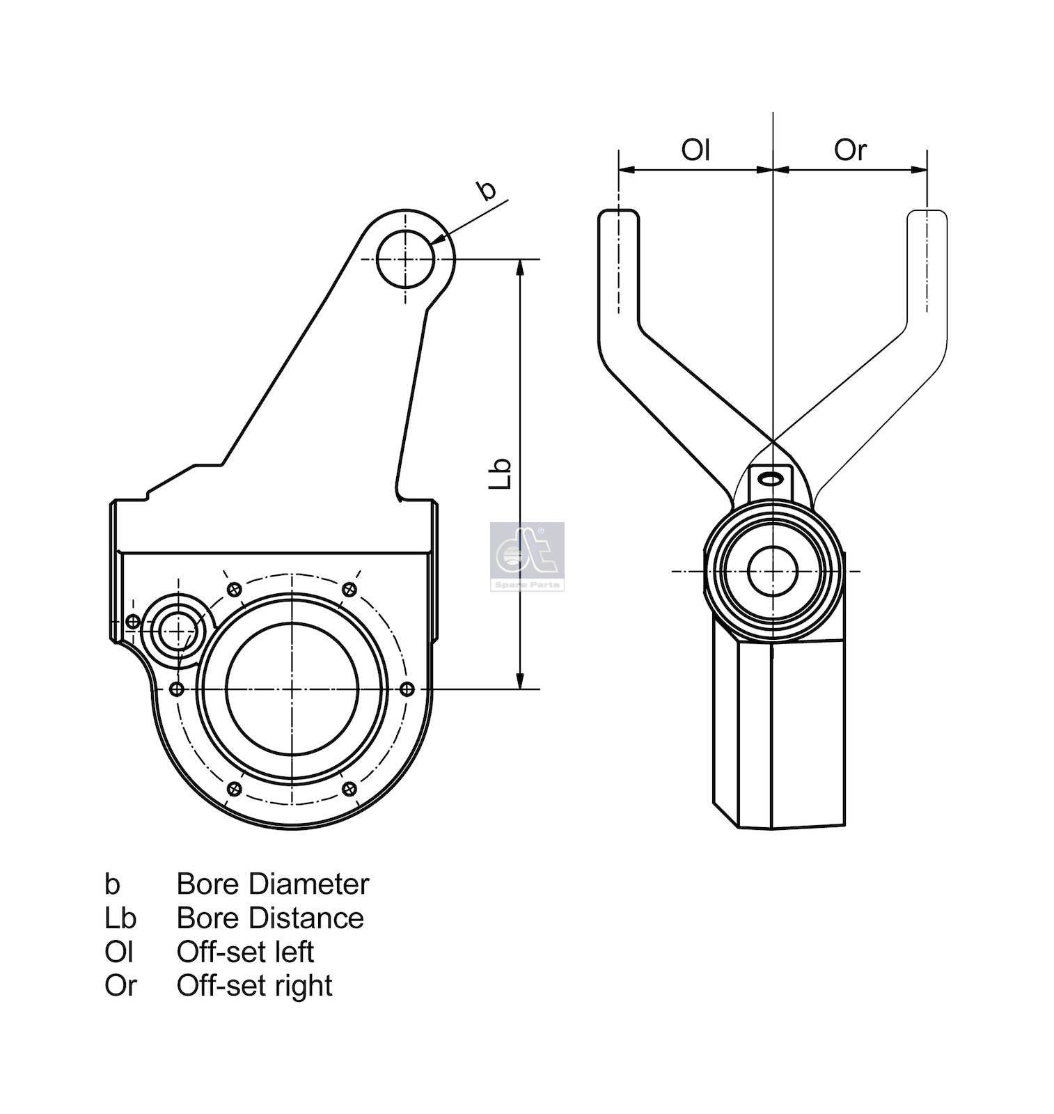 Dt 4 Slack Adjuster Manual Left Suitable For Bpw