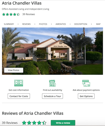 New Senior Living Listings on Caring.com — Helping Communities Better Showcase Their Offering