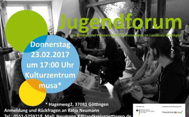 Einladung zum ersten Jugendforum