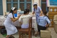 4.23 - Vientiane - MCH - UPS - two women being vaccinated