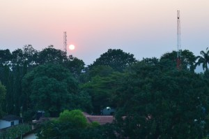 Sunset over Accra