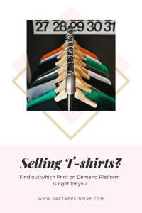 """""""selling t-shirts with print on demand"""""""