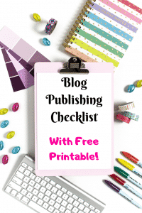 Blog publishing checklist