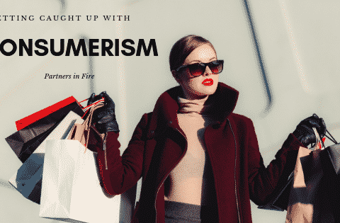"""caught up in consumerism"""
