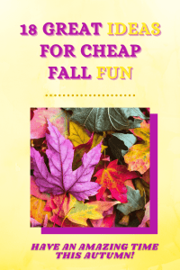 ideas for cheap fall fun
