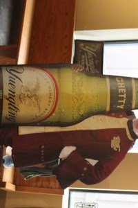 Yuengling brewery tour cut out photo