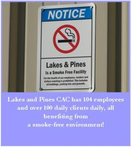 lakes and pines smoke free signage