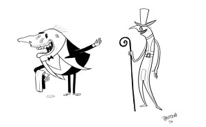 character design, butlers, creepy, dodgy