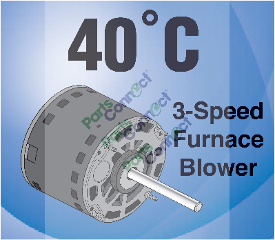 economaster 40˚c 3speed furnace blower motor