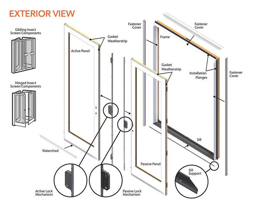 400 series frenchwood patio door parts