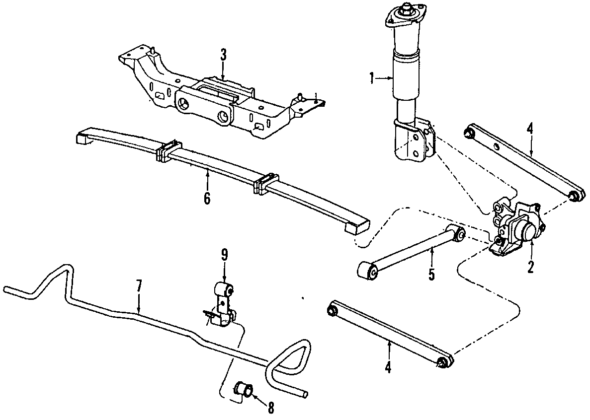 Buick Regal Rear Rr Lateral Arm Rod Suspension