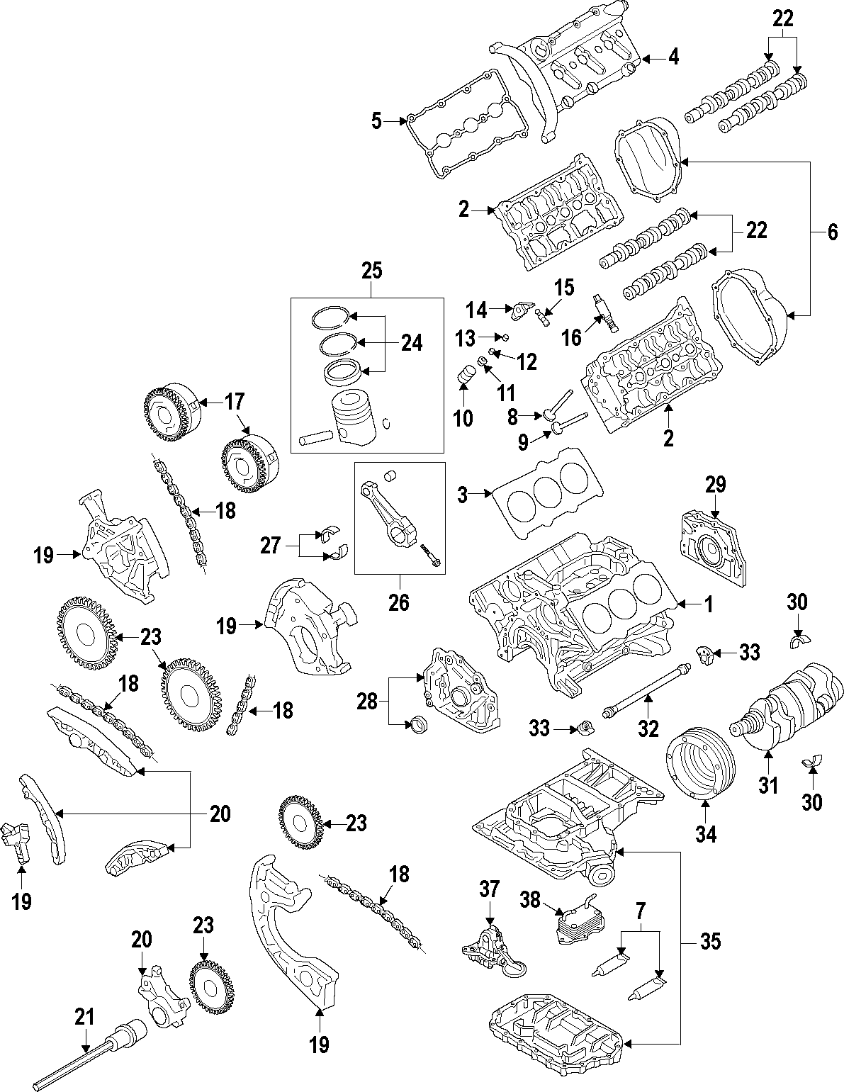 Audi Q5 Engine Timing Chain Oil Pump Drive Chain