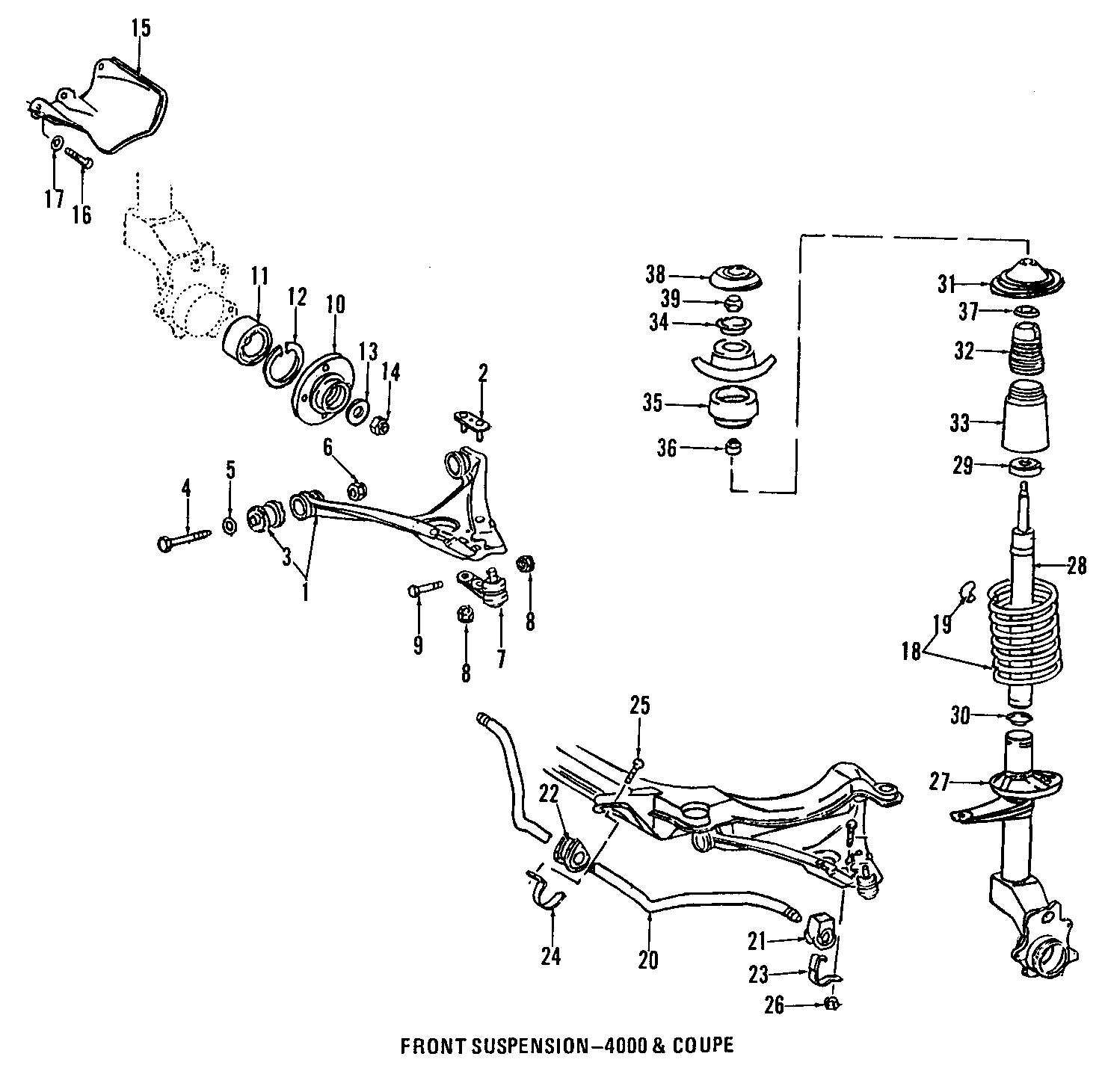 Audi Arm Control Bushing Mount Suspension