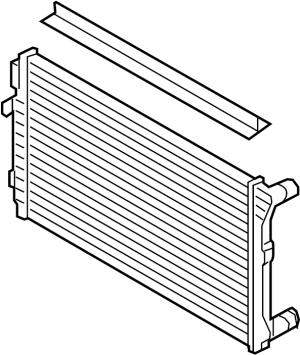 5Q0121251GL  Radiator Primary LITER, Cooling, ENGINE