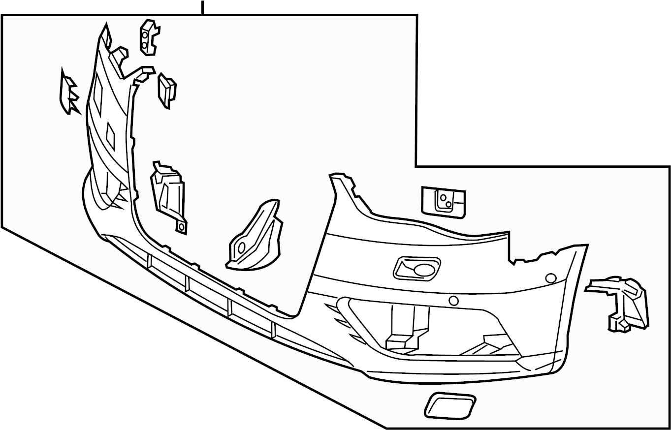 Audi A3 Bumper Cover Center Cover Retainer Plate Sensor