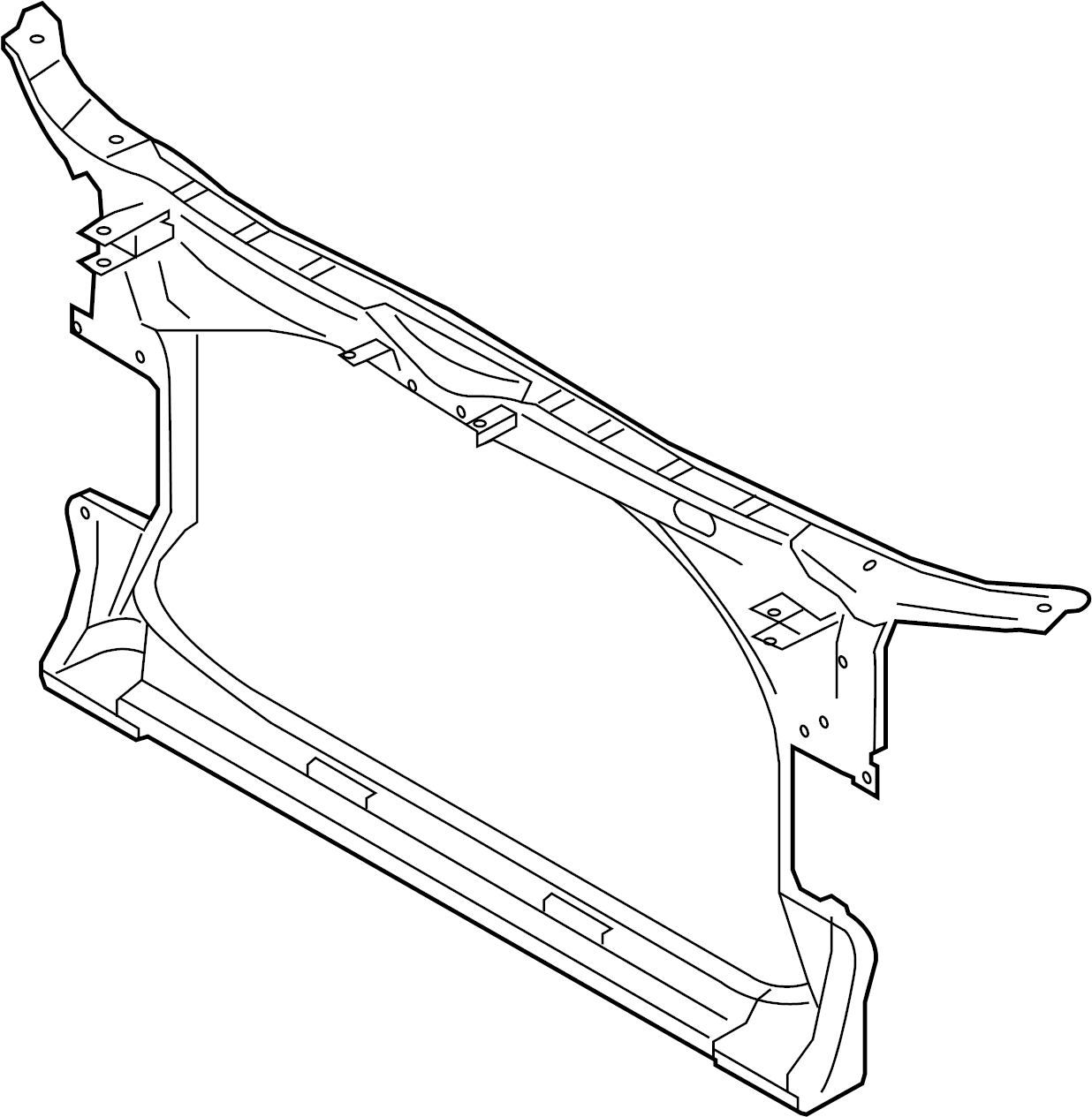 Audi A7 Radiator Support Panel Front Liter