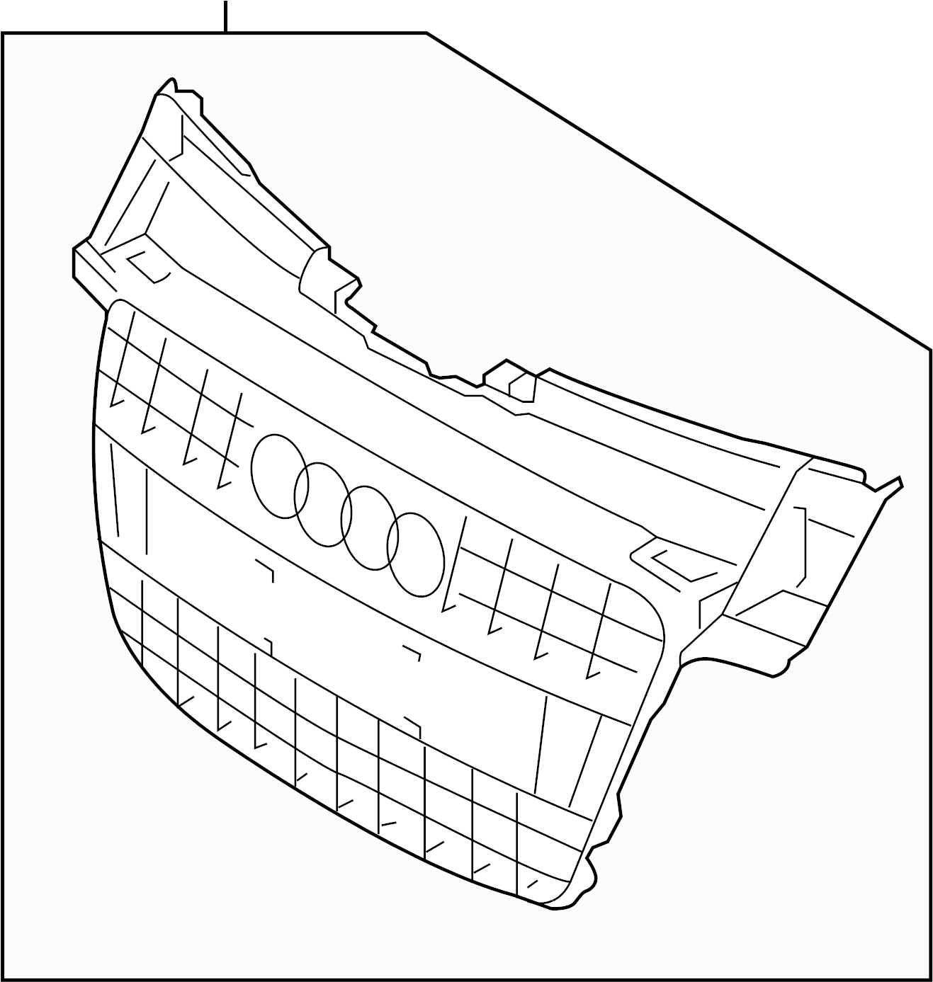 Audi Tt Grille Air Inlet Center Insert Lower