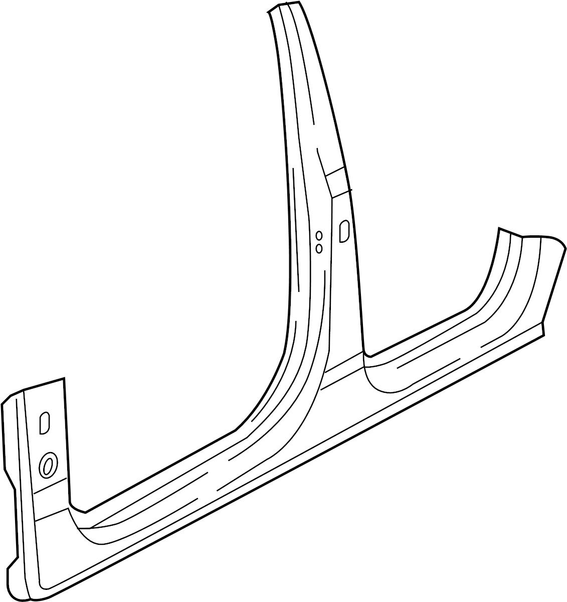 Audi Q7 Rocker Pillar Panel And Body B Center