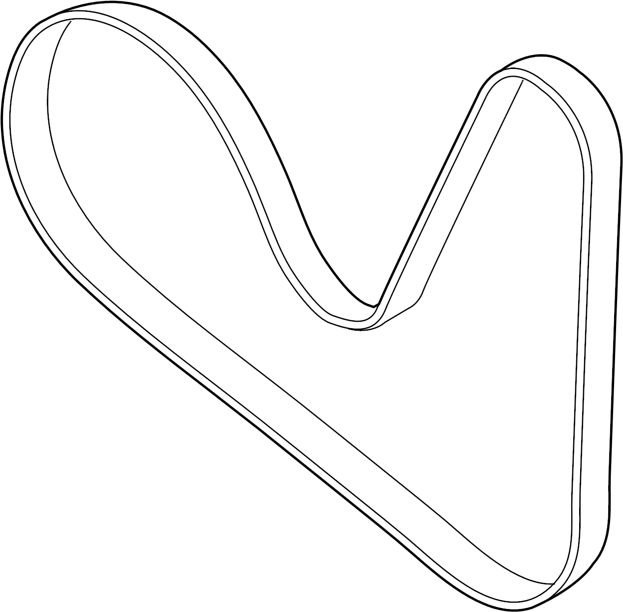 Audi Q7 Ribbedbelt Serpentine Belt Liter Pulleys Belts