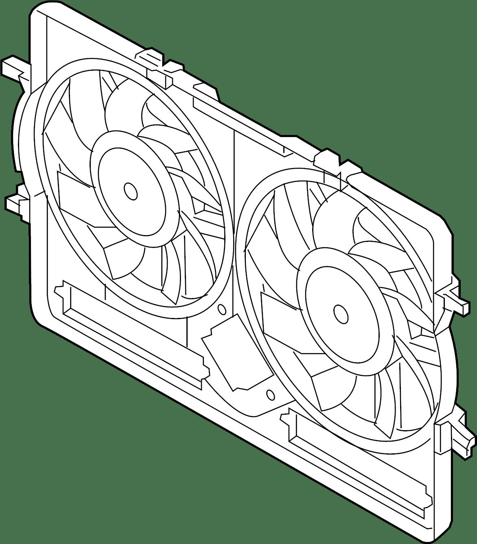 Audi Q5 Shroud Fan Includes Fan Motor Air Box
