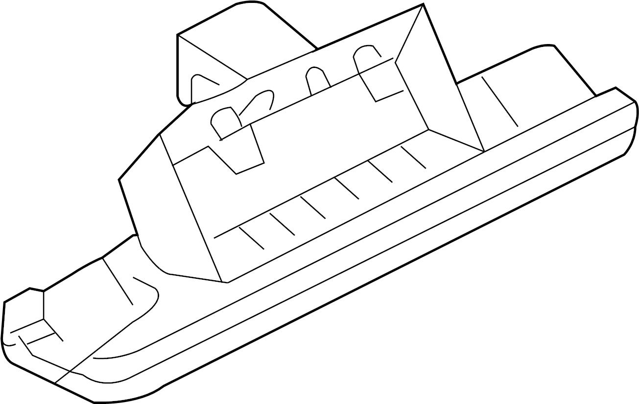 Audi A6 License Lamp License Plate Light Assembly