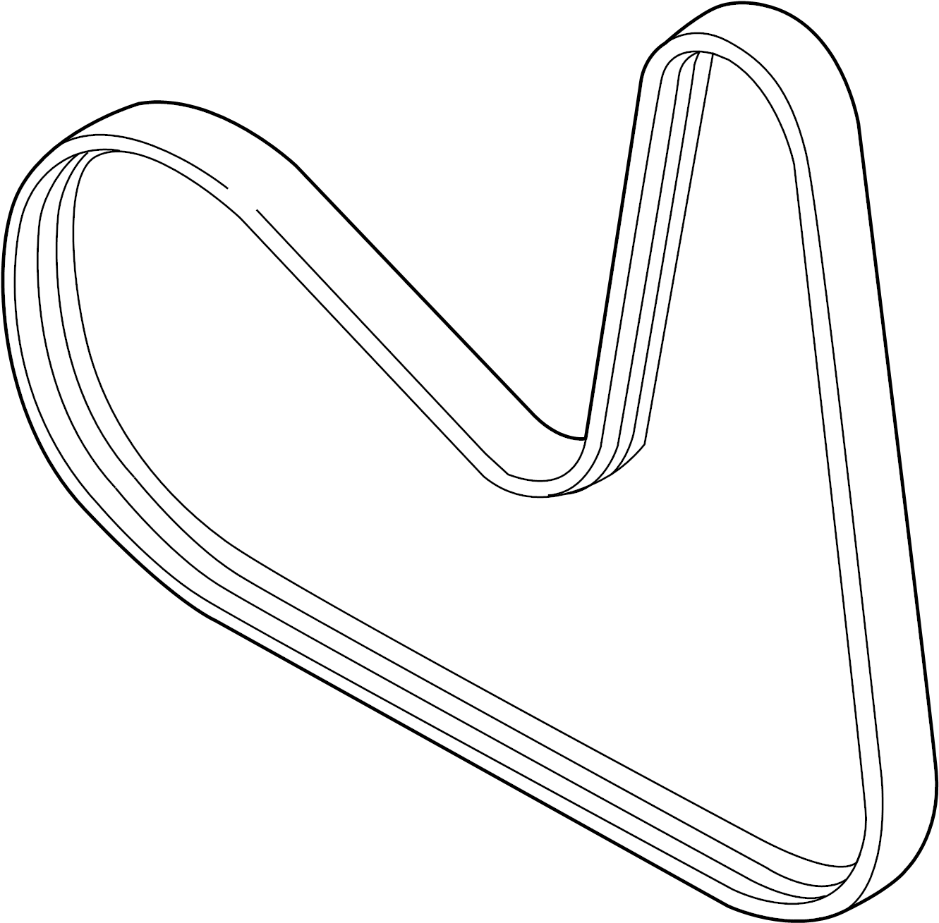 Audi A4 Serpentine Belt Ribbedbelt