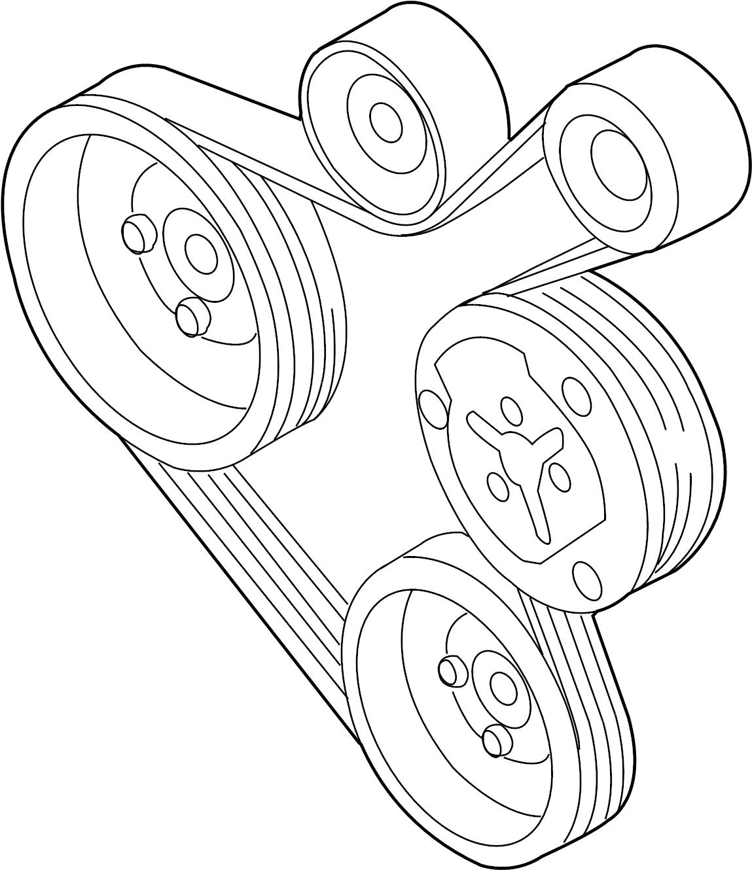 Volkswagen Golf Ribbedbelt Serpentine Belt 1 8