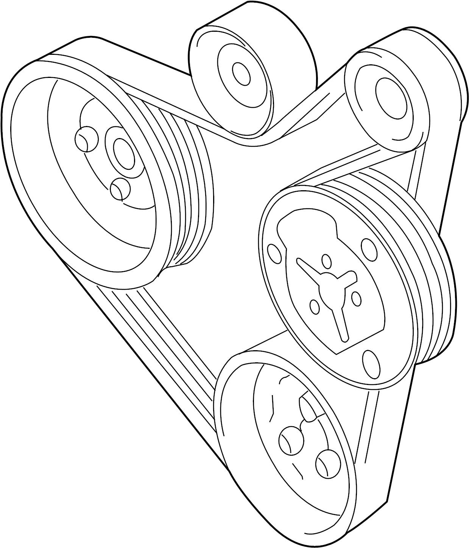 Volkswagen Golf Doublebelt Serpentine Belt Liter