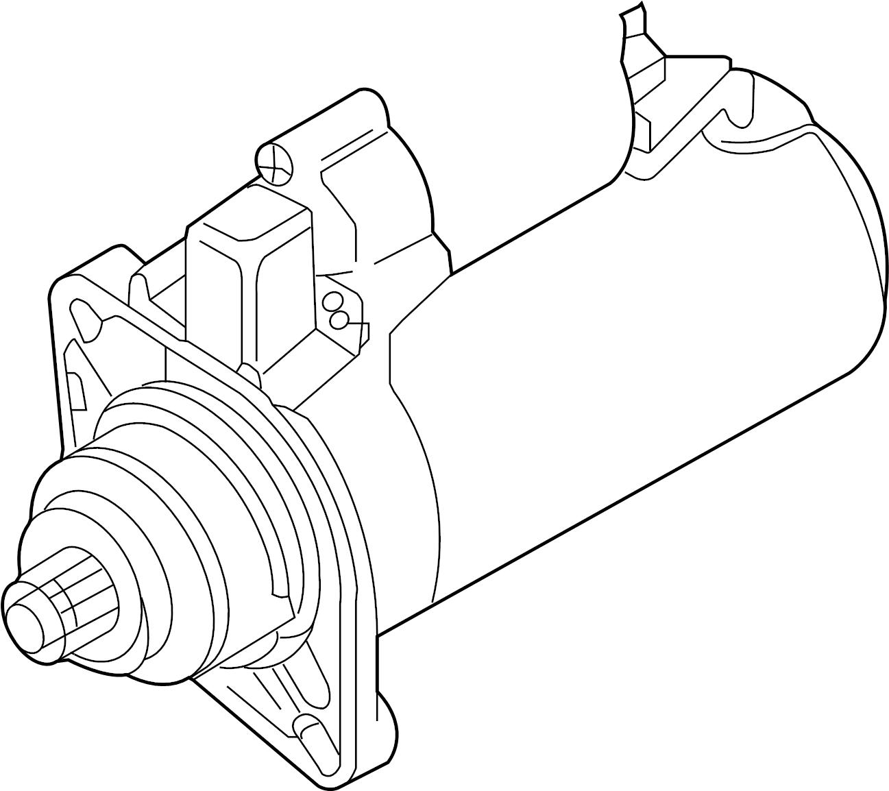 Volkswagen Beetle Convertible Starter Motor Reman