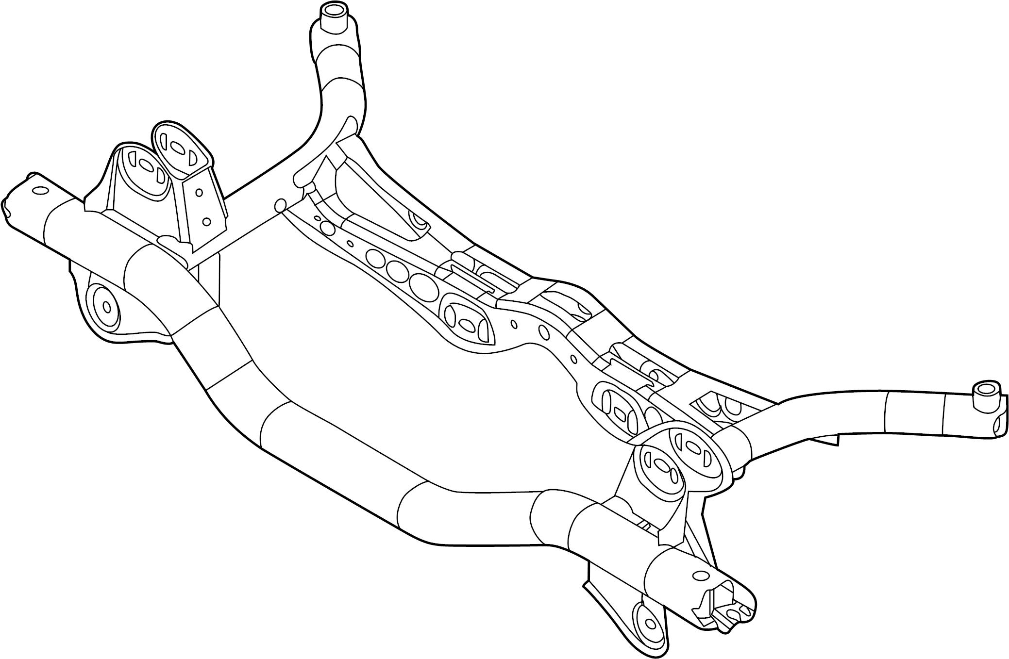 Volkswagen Jetta Hybrid Crossmember Suspension