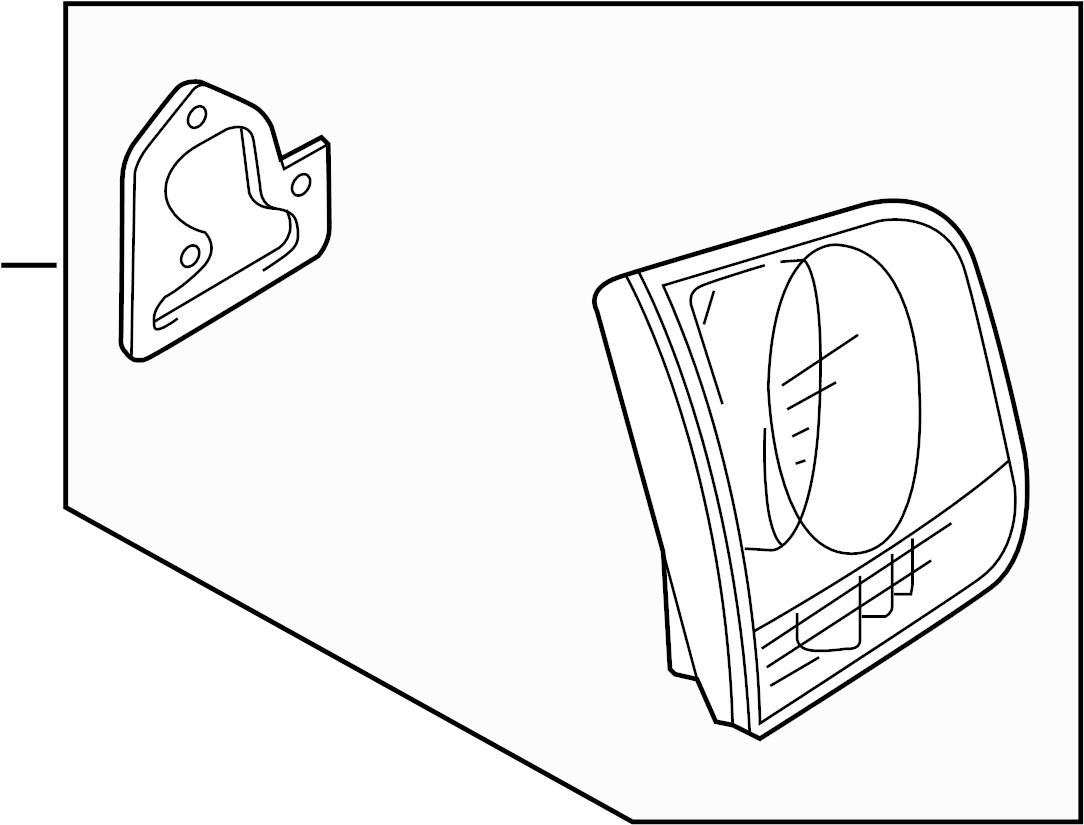 Volkswagen Touareg Tail Light Assembly Inner Lamp