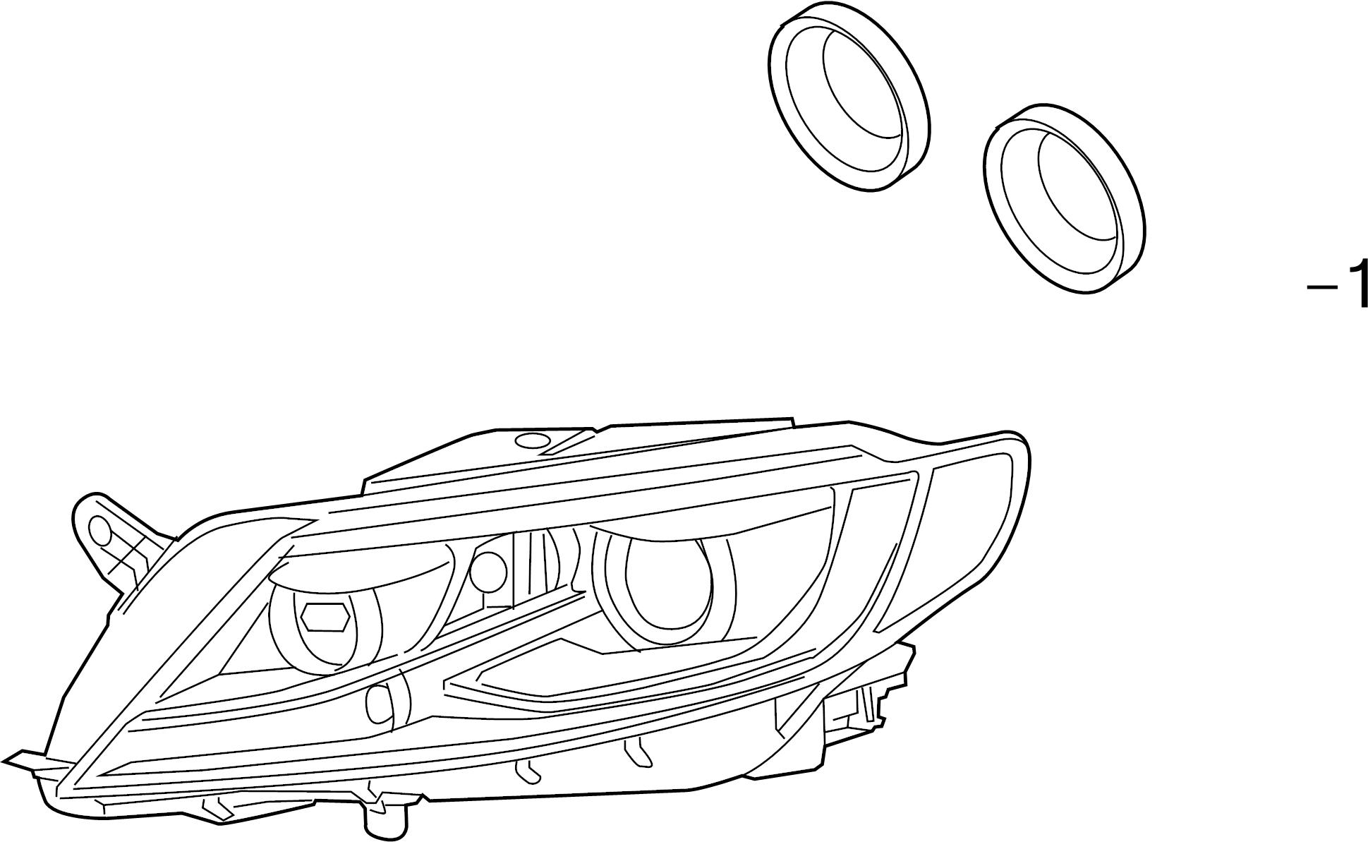Volkswagen Cc Headlight Bulb Cap Front Rear Lower