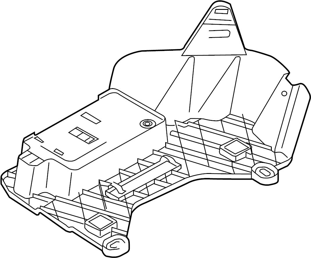 Volkswagen Eos Bracket Module Control Anti