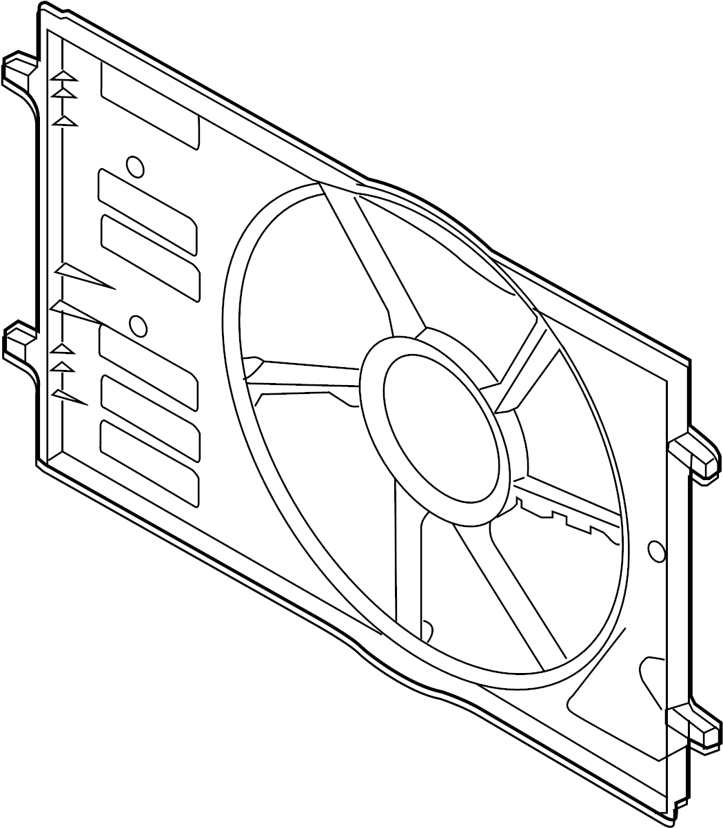 Volkswagen Golf Engine Cooling Fan Shroud Front
