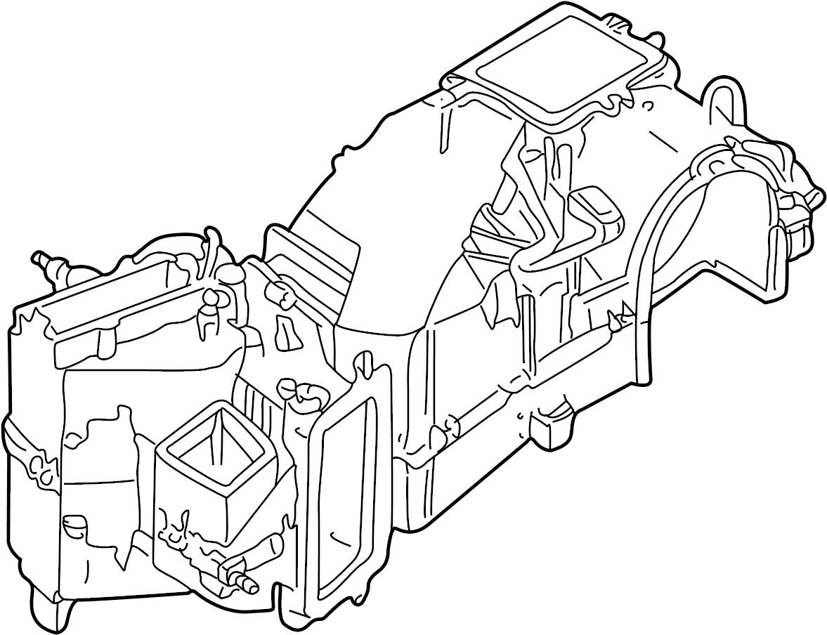 Volkswagen Beetle Ac Amp Heater Case Case Evaporator