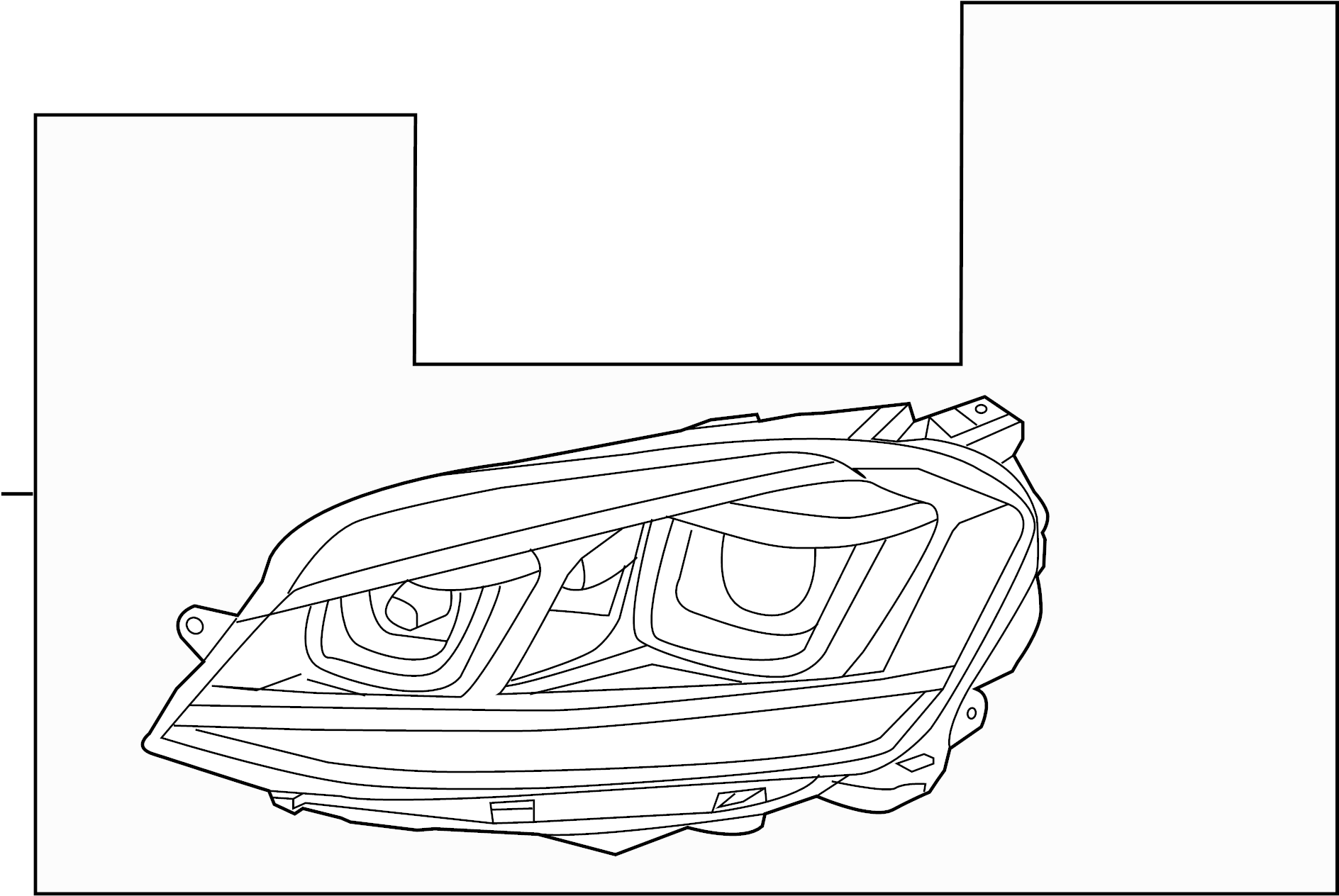 Volkswagen Gti Headlamp Assembly Headlight Assembly Bi Xenon
