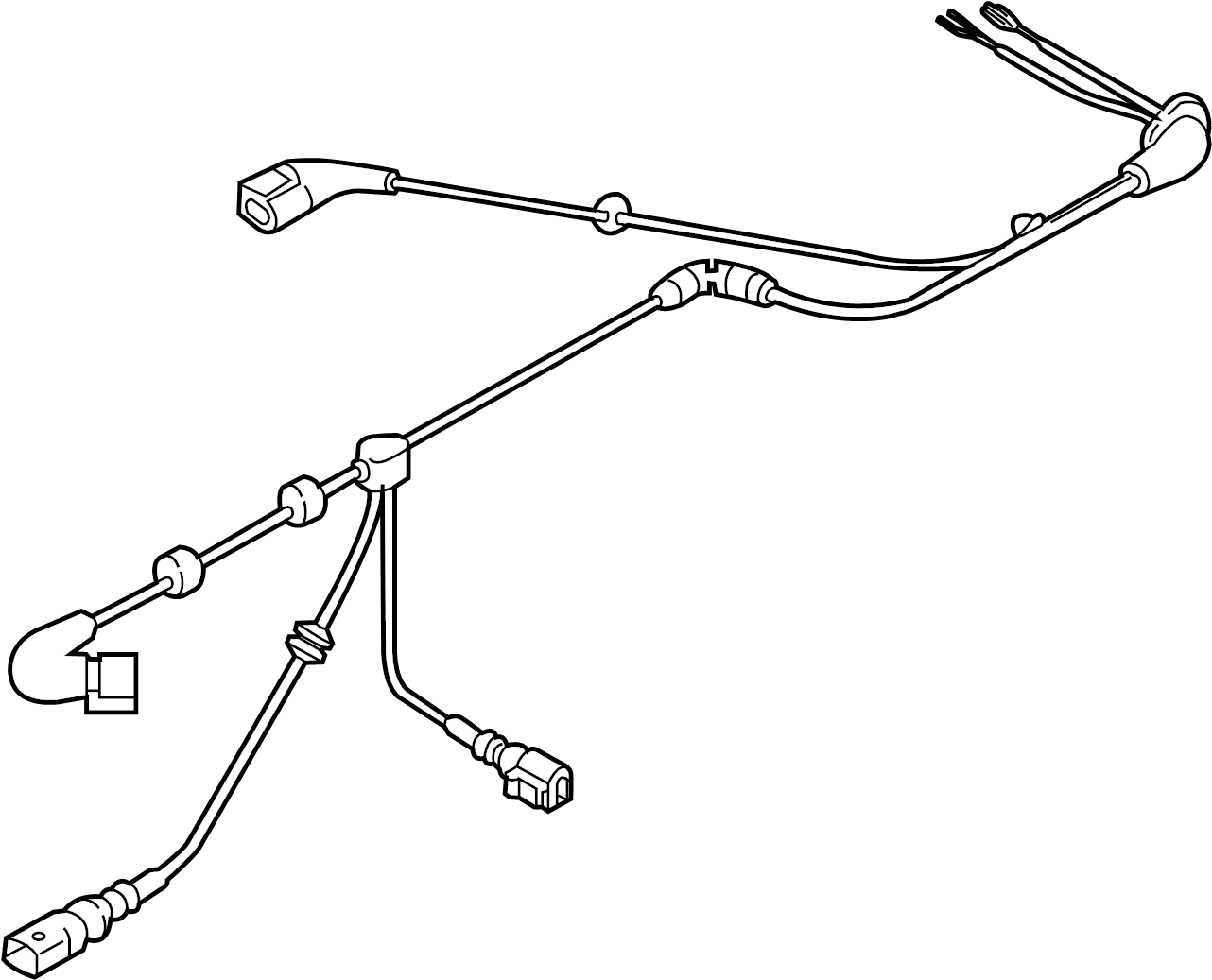 Volkswagen E Golf Abs Sensor Wire Abs Wheel Speed