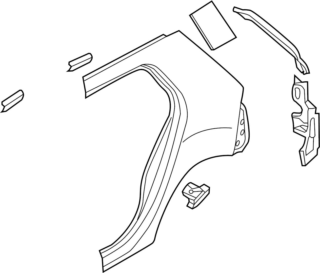 Volkswagen Golf Uniside Left 4 Door Body Aperture