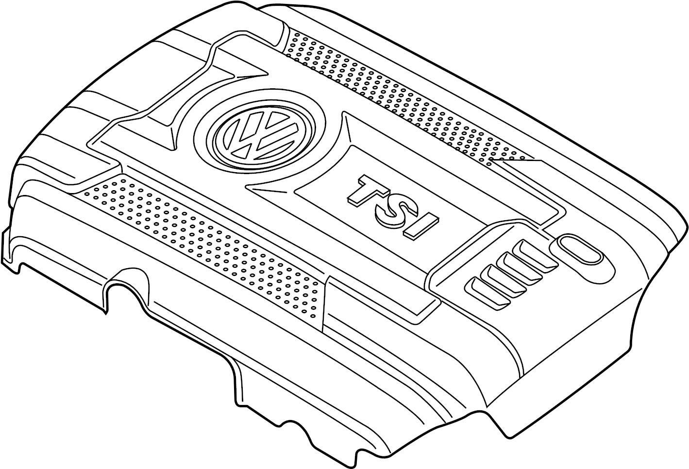 Volkswagen Passat Engine Cover 1 8 Liter 18