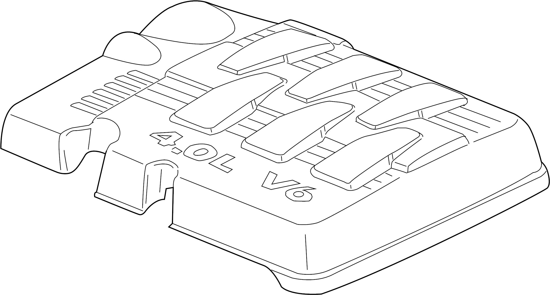 Volkswagen Routan Engine Cover 4 0 Liter
