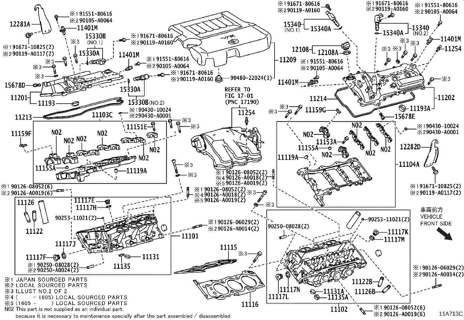 Lexus Es 350 Engine Cylinder Head Bolt