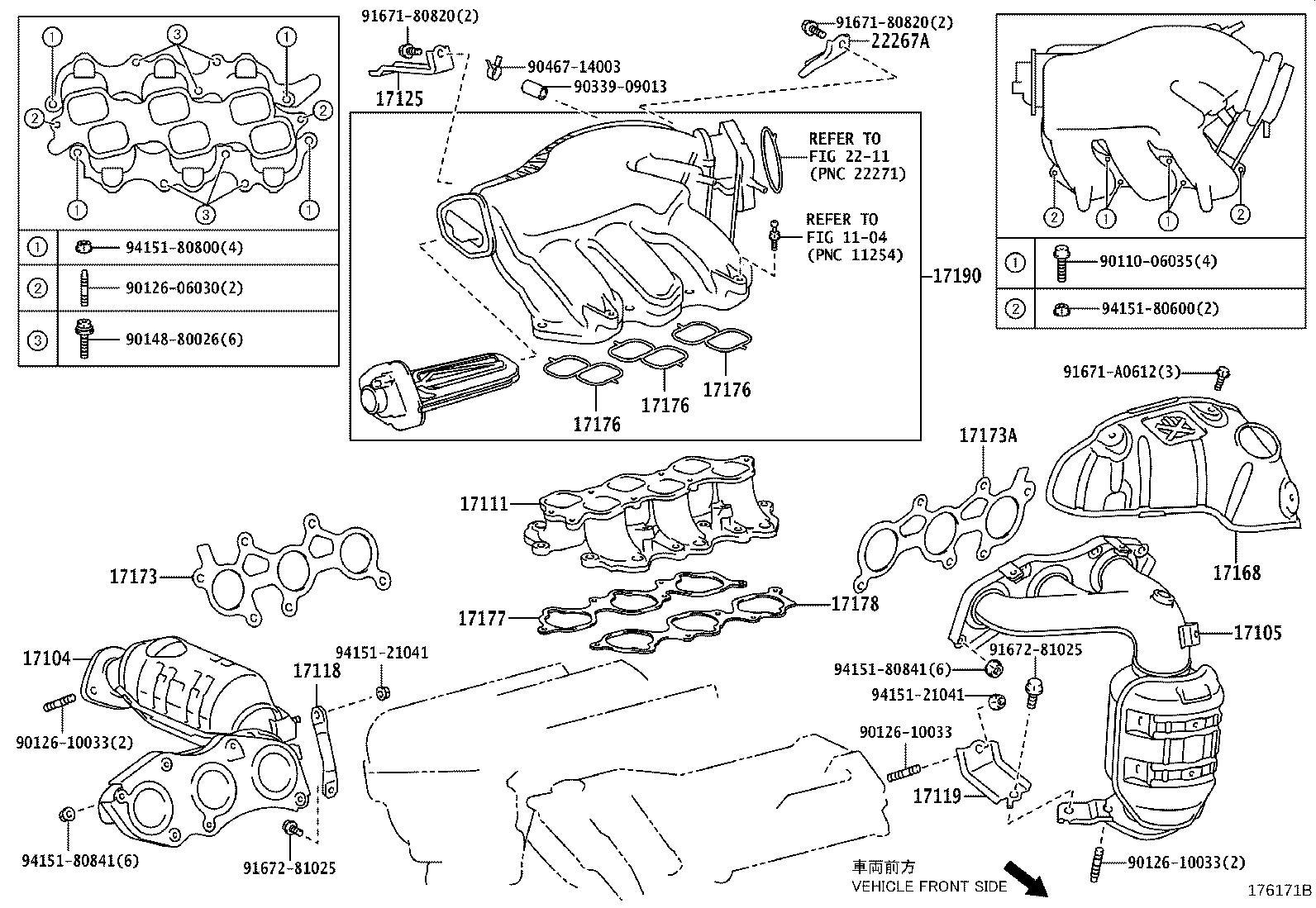 Lexus Rx 350 Exhaust Manifold Gasket Left Gasket
