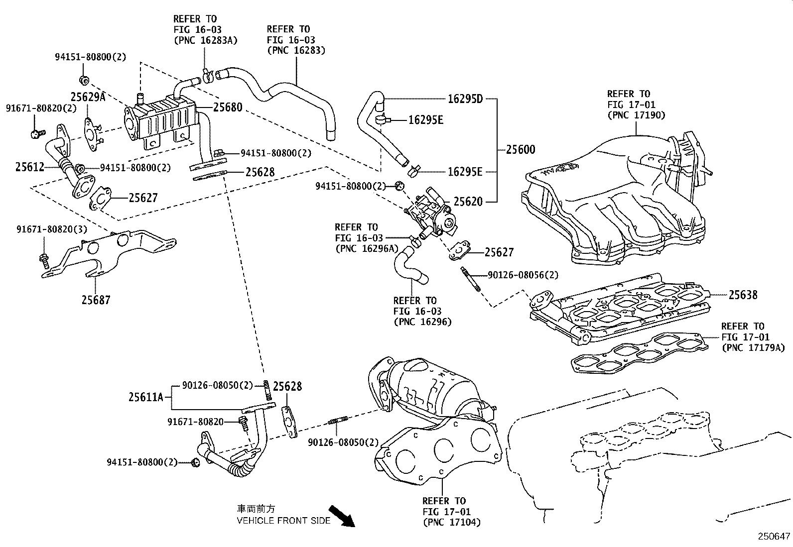 Lexus Rx 450h Egr Valve System Exhaust Fuel