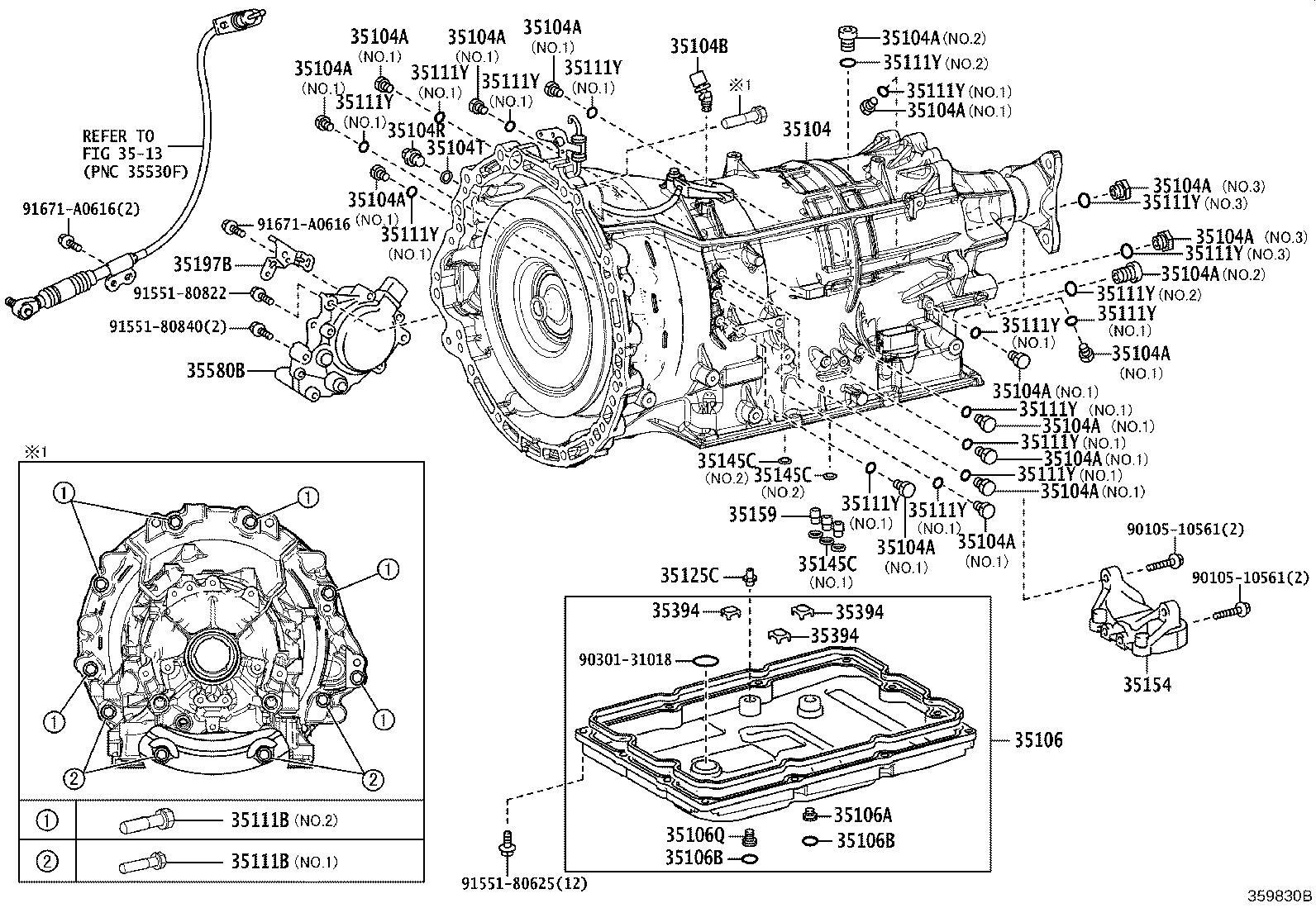 Lexus Lc 500 Plug Plug Sub Assembly Drain Atm For