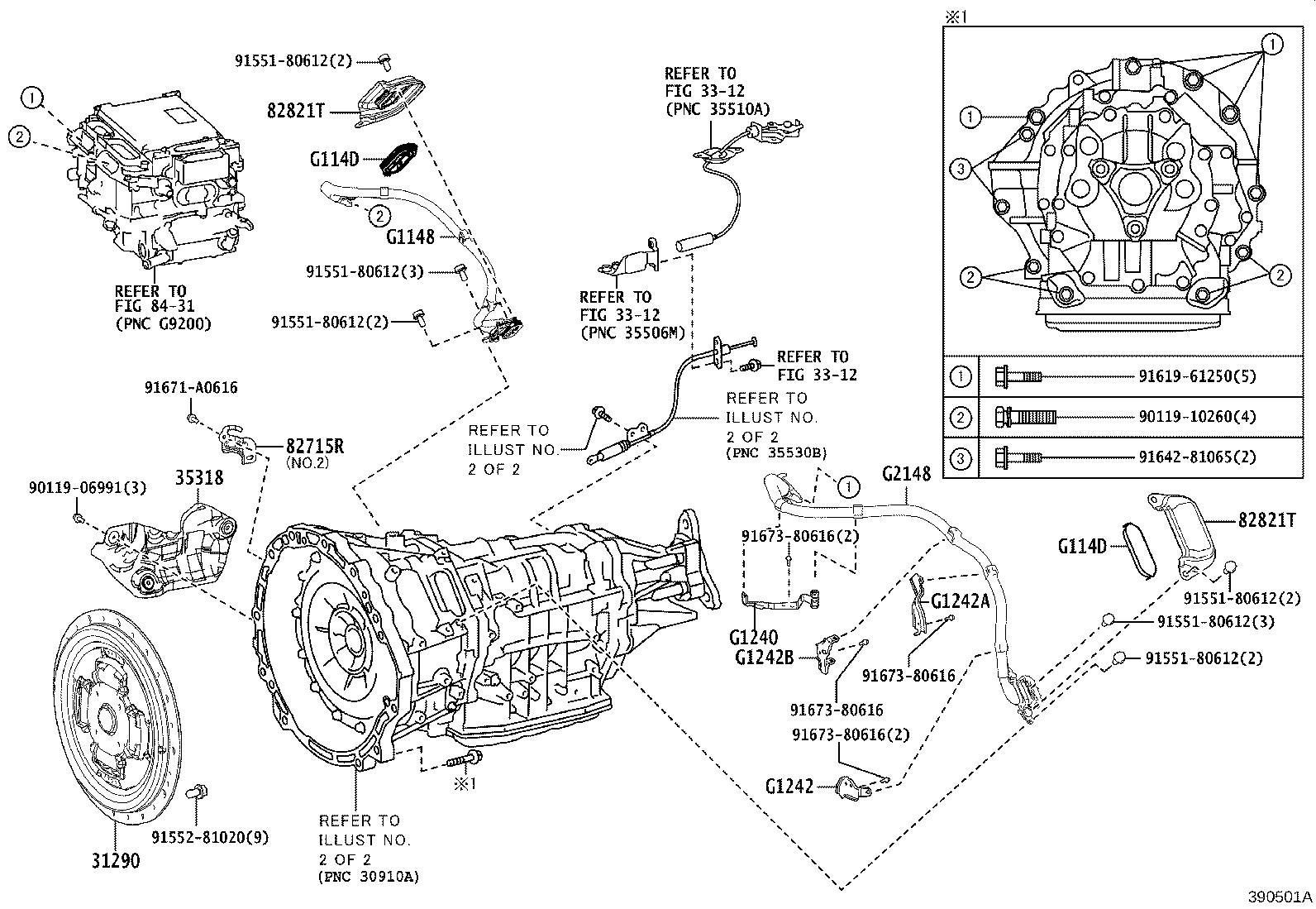 Lexus Ls 500h Bracket Wiring Harness Clamp No 2