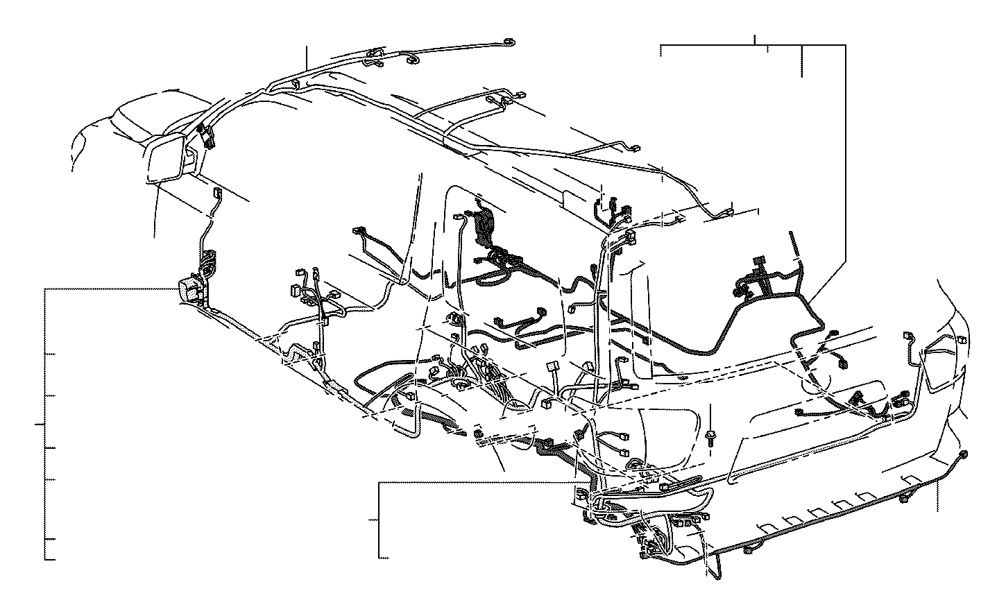 Lexus Rx 400h Connector Wiring Harness Engine Room