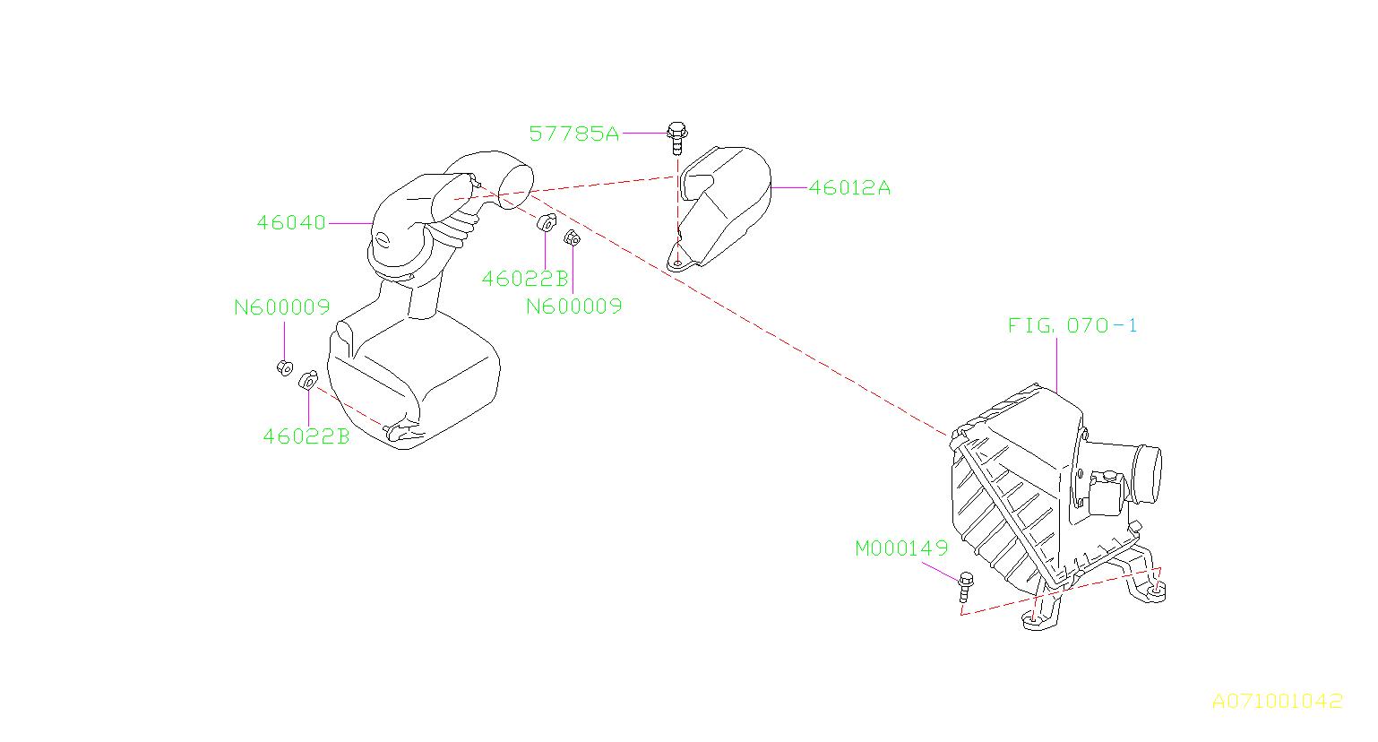 Subaru Forester Engine Air Intake Resonator